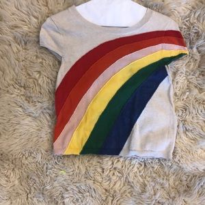 Alice + Olivia Rainbow Sweater Shirt